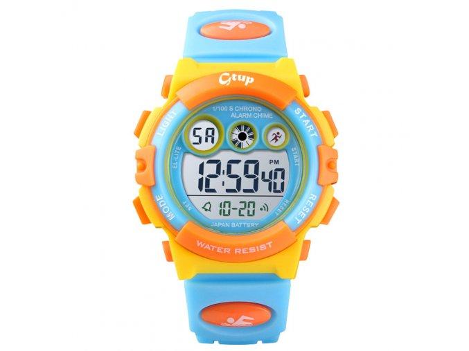 detske hodinky gtup 1110 oranzovo zlute