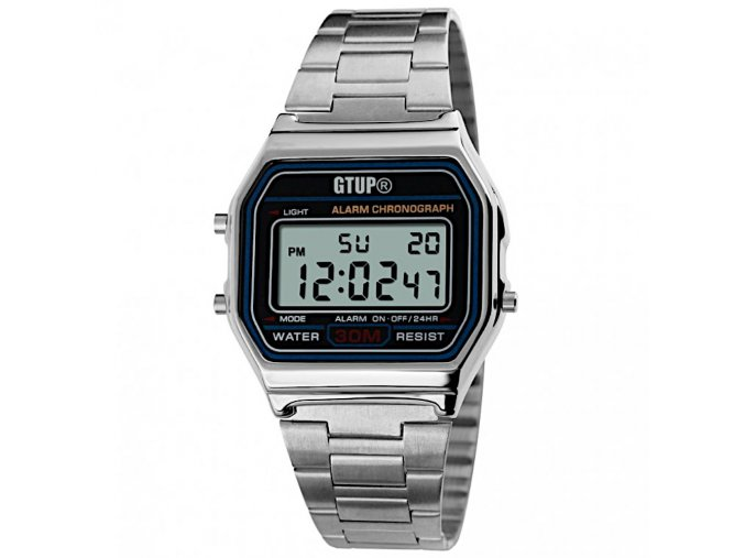 digitalni retro hodinky kovove s kovovym reminkem gtup 1190 hlavni