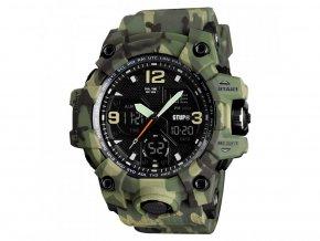 vojenske digitalni hodinky gtup 1050 maskovane