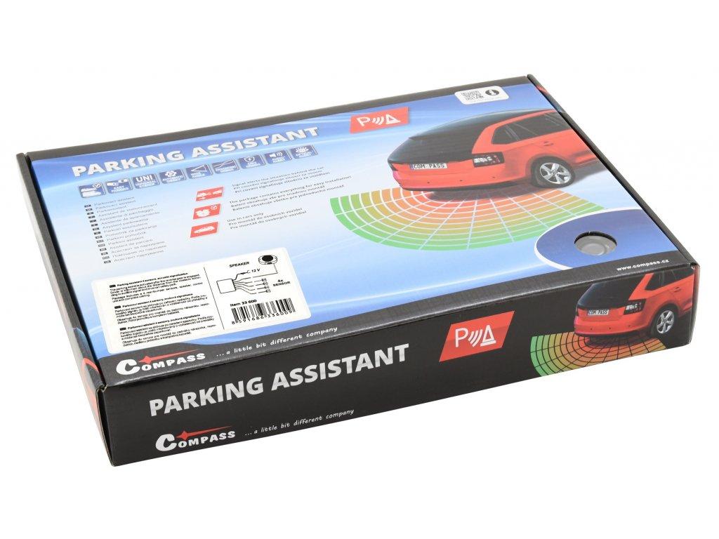 Parkovací asistent 4 senzory, zvuková signalizace