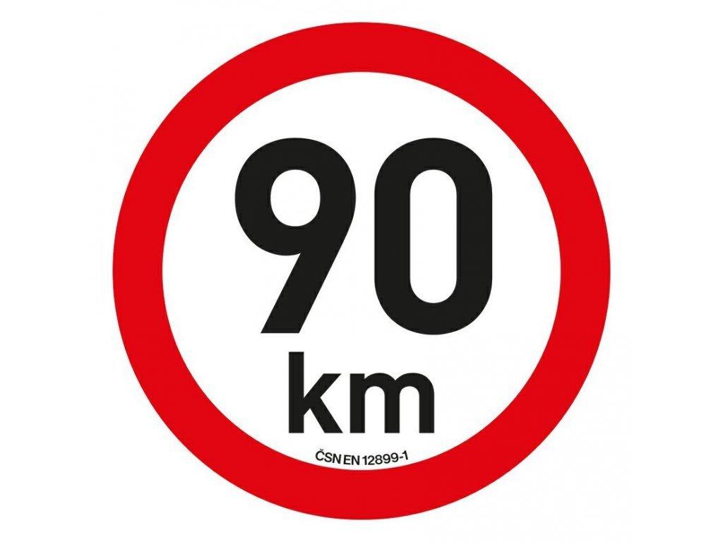 Samolepka omezení rychlosti 90 km/h reflexní (200 mm)