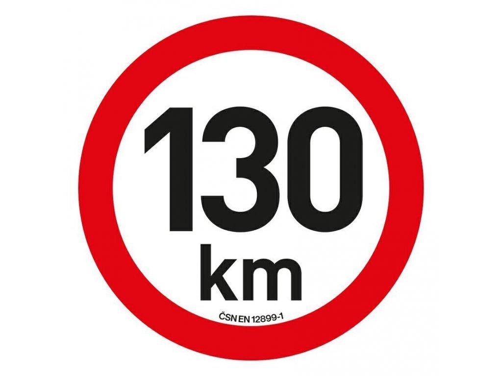 Samolepka omezení rychlosti 130 km/h reflexní (200 mm)