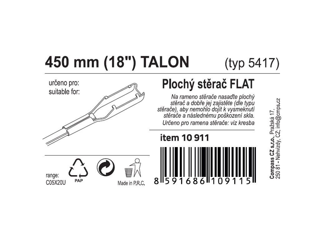 "Stěrač FLAT BULK (TALON) 18""/450mm"