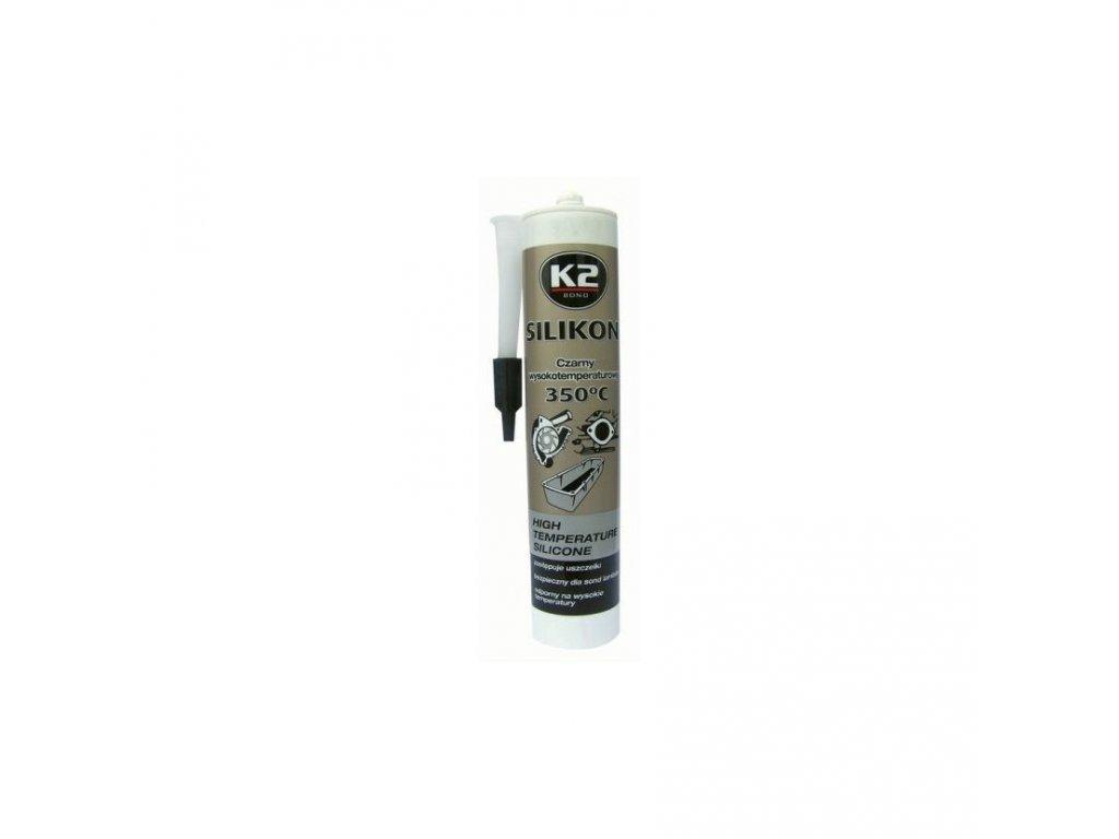 K2 SILICONE BLACK 300g - silikon pro utěsnění části motoru při montáži