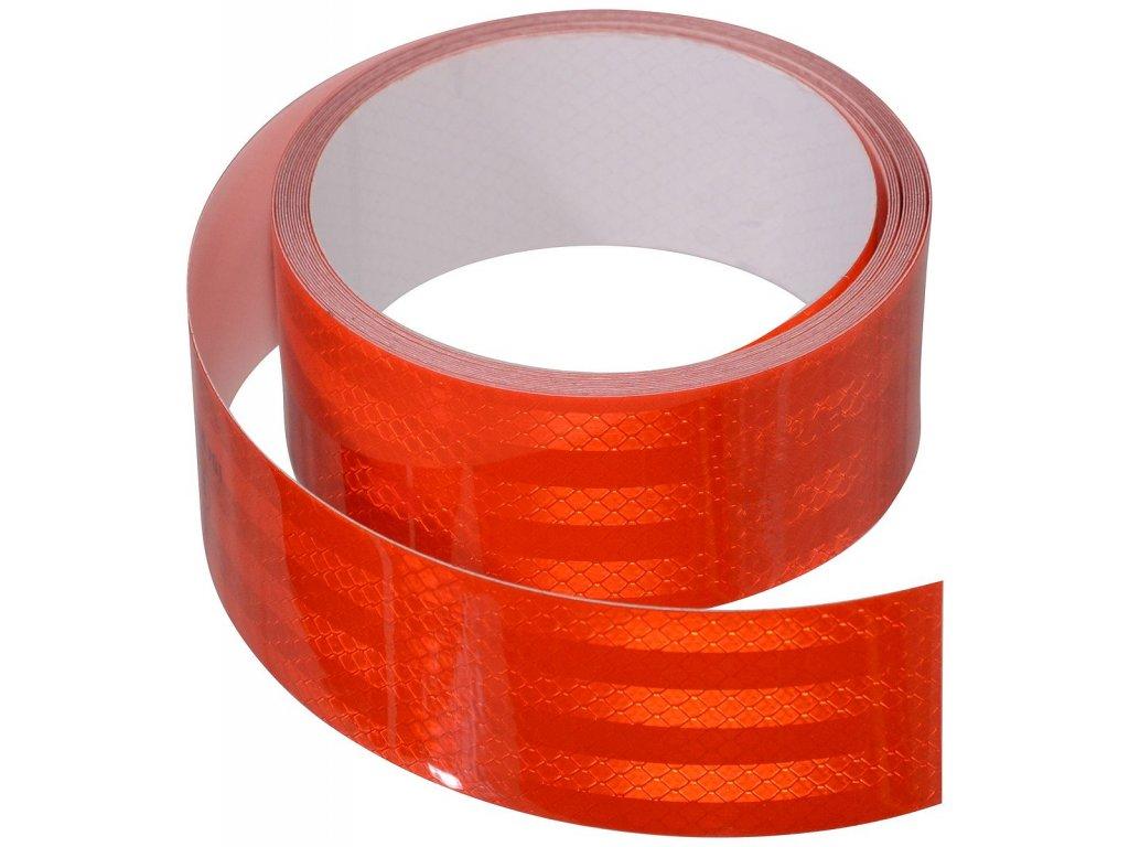 Samolepící páska reflexní 5m x 5cm červená (role 5m)