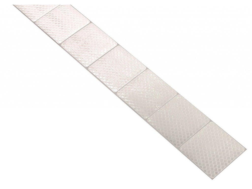 Samolepící páska reflexní dělená 1m x 5cm bílá