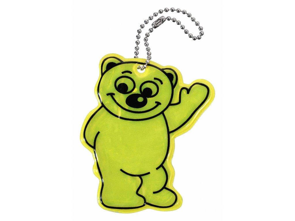 Přívěšek reflexní BEAR - žlutý