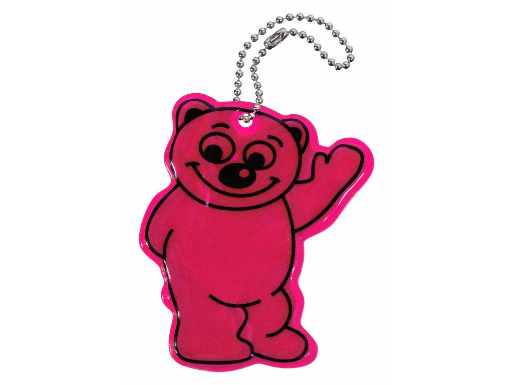 Přívěšek reflexní BEAR - fialový