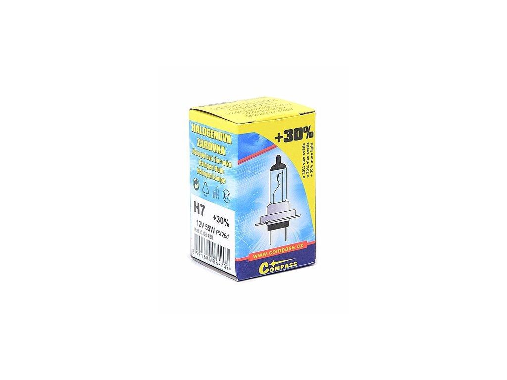 Žárovka 12V H7 55W PX26d box FLASH +30%