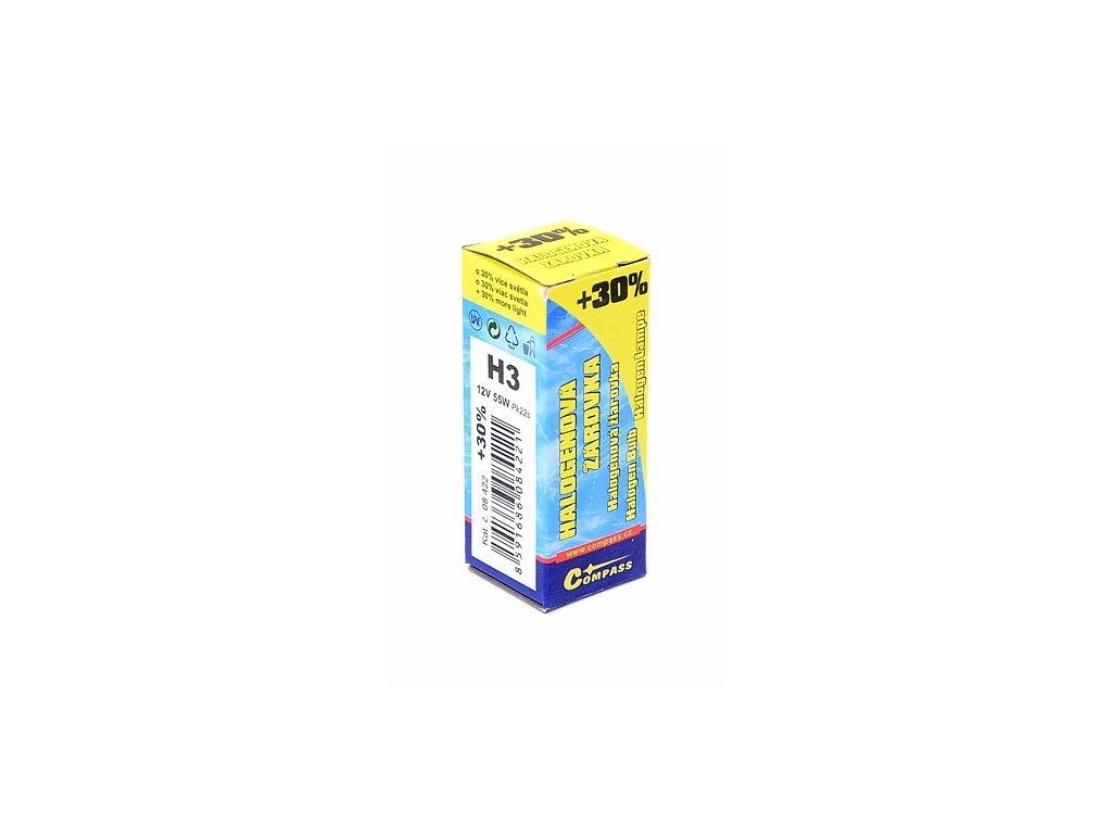 Žárovka 12V H3 55W Pk22s box FLASH +30%