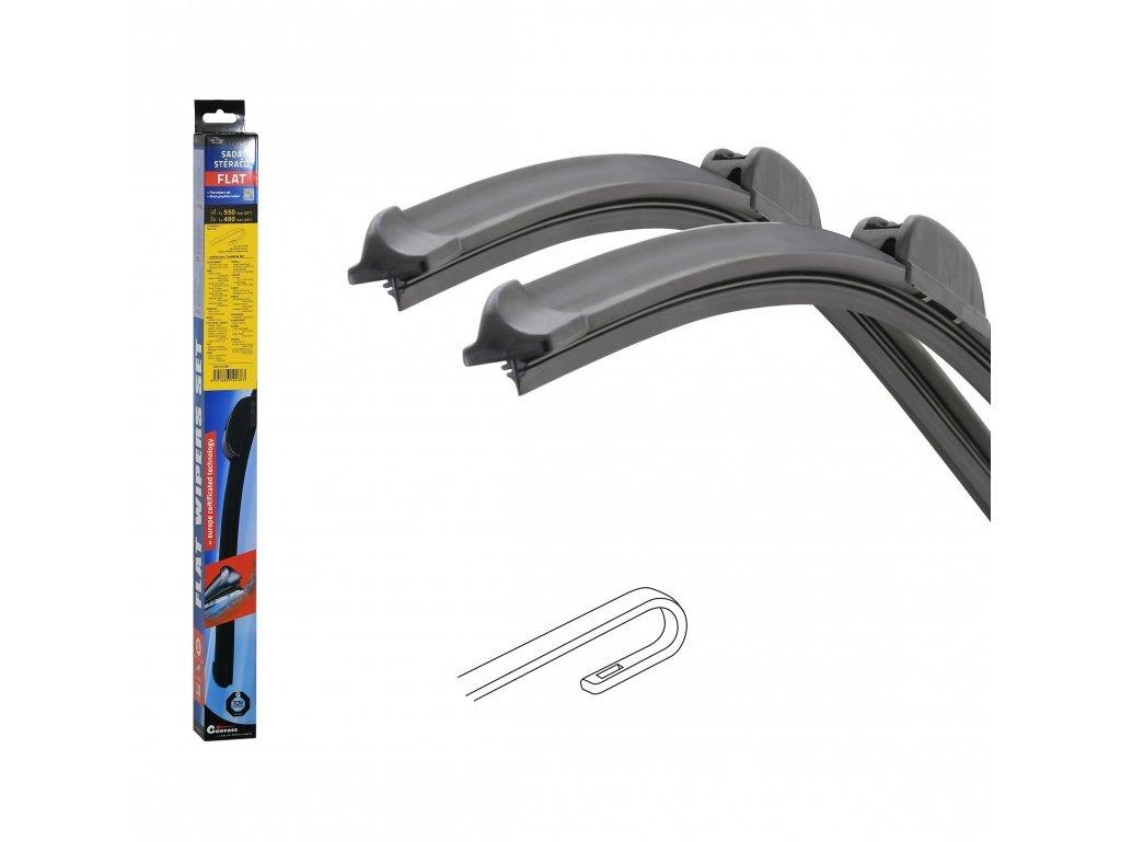 Stěrače FLAT SET (HOOK) 550+480mm