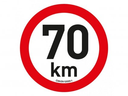 Samolepka omezení rychlosti 70 km/h reflexní (200 mm)