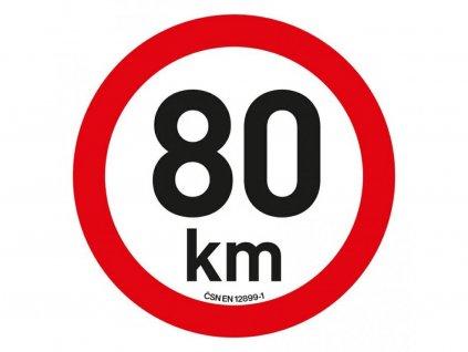 Samolepka omezení rychlosti 80 km/h reflexní (200 mm)