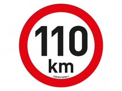 Samolepka omezení rychlosti 110 km/h reflexní (200 mm)