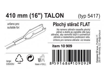 "Stěrač FLAT BULK (TALON) 16""/410mm"