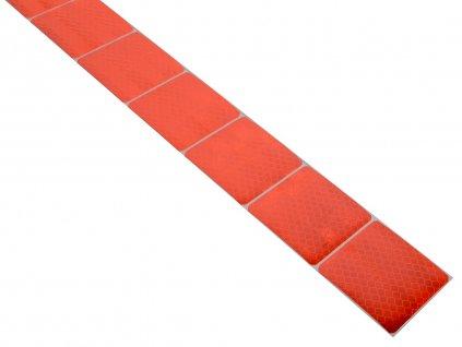 Samolepící páska reflexní dělená 1m x 5cm červená