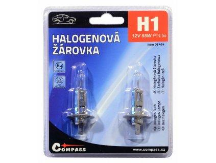 Žárovka 12V  H1  55W P14,5s blister 2ks