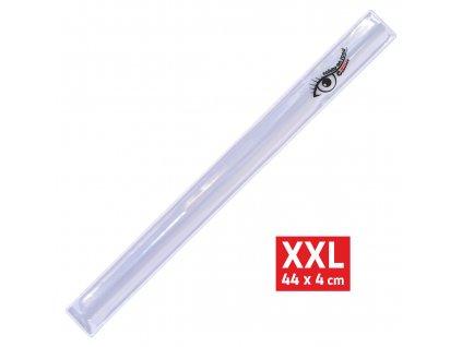 Pásek reflexní ROLLER XXL 4x44cm S.O.R. stříbrný