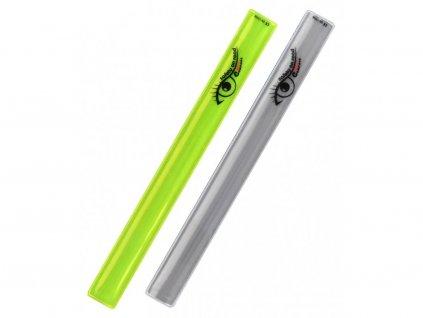 Pásek reflexní ROLLER 2ks žlutý + stříbrný