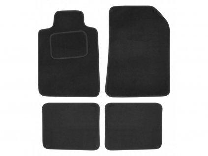 Koberce textilní UNI 4ks vel.1. černé