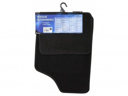 Koberce textilní UNI 4ks vel.3. černé