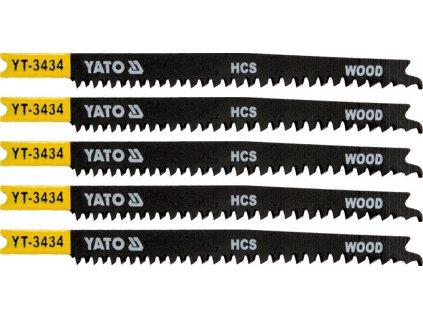 List pilový do přímočaré pily 108 mm na dřevo TPI12-8 5 ks