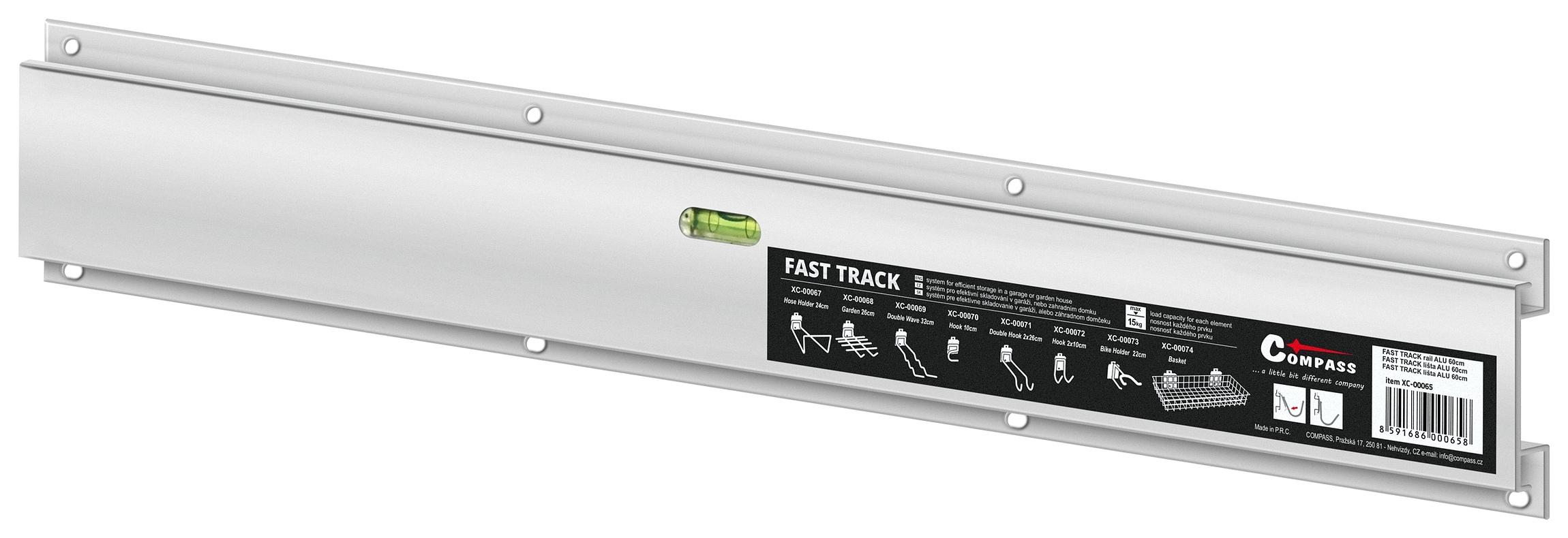 Compass Závěsný systém FAST TRACK lišta ALU 60cm s vodováhou