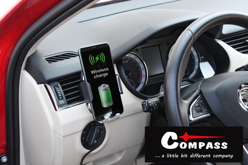 Compass Držák telefonu LUKE-X bezdrátové nabíjení 10W silver