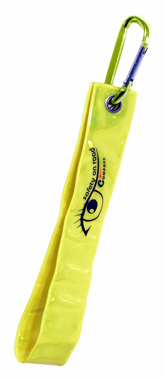 Compass Přívěšek s karabinou reflexní S.O.R. žlutý
