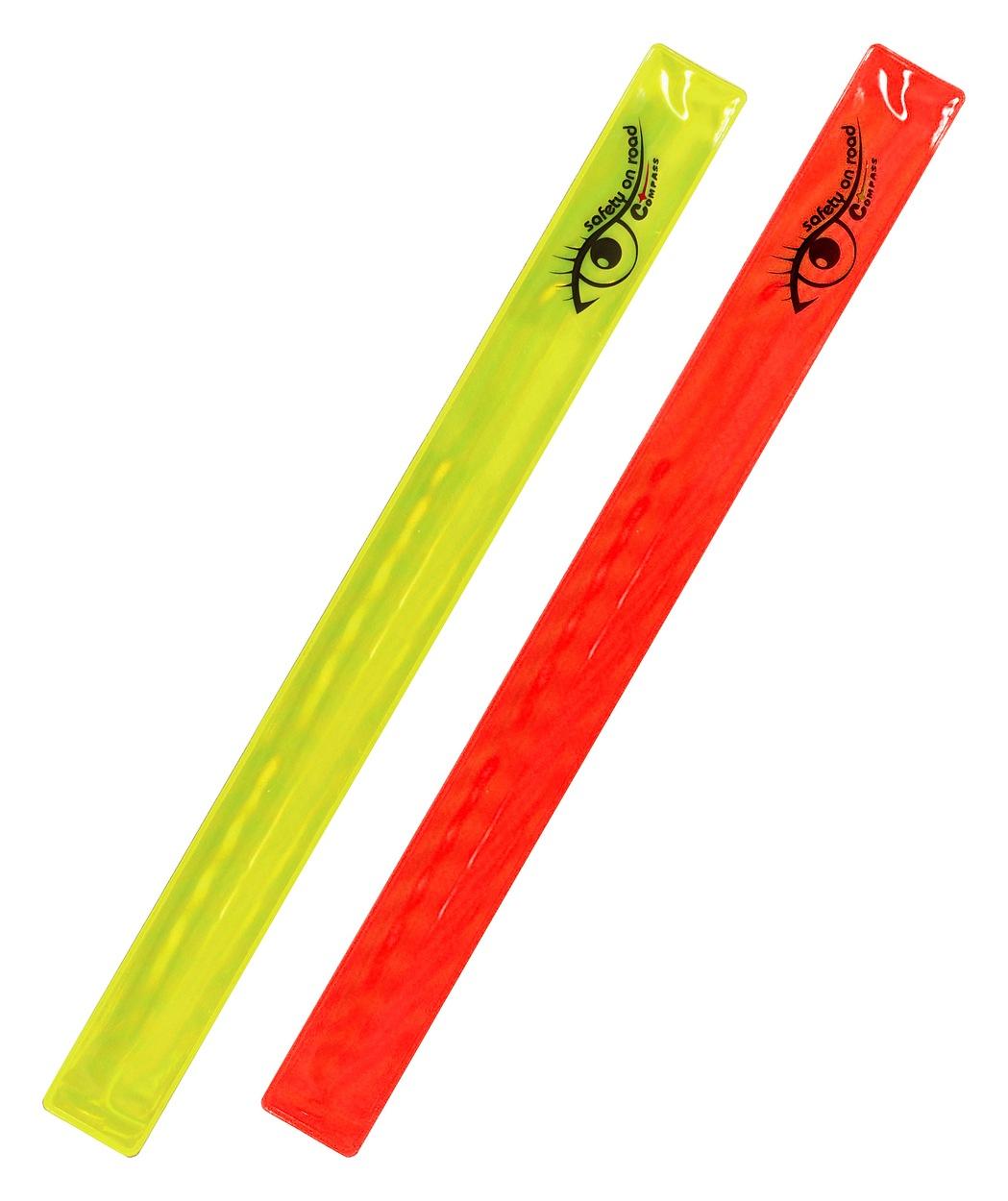 Compass Pásek reflexní ROLLER 2ks žlutý + červený