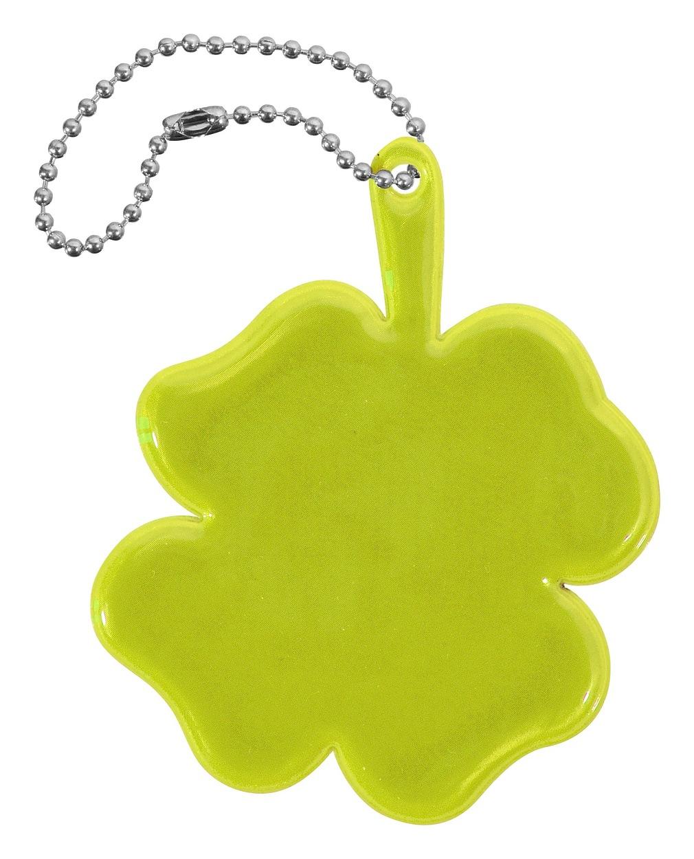 Compass Přívěšek reflexní ČTYŘLÍSTEK - žlutý