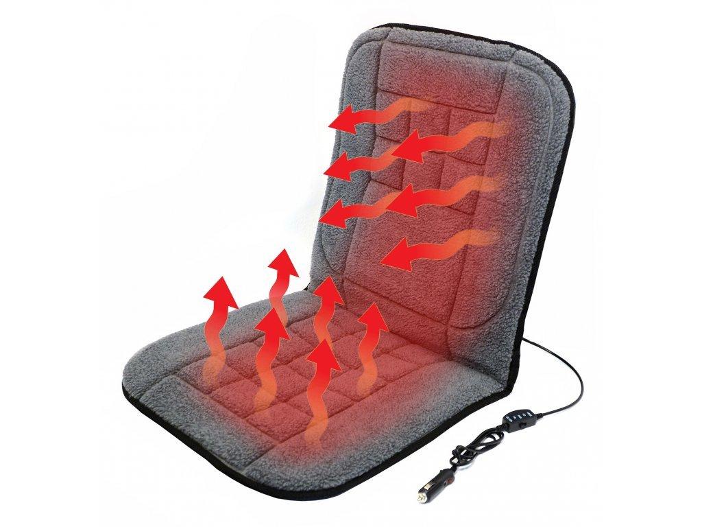 Compass Potah sedadla vyhřívaný s termostatem 12V TEDDY přední