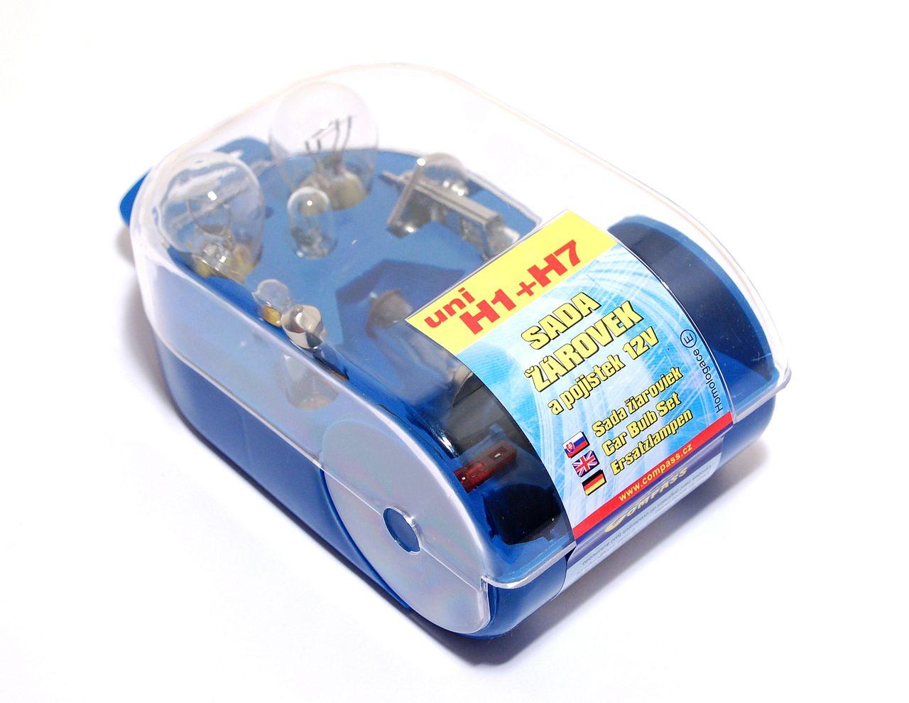 Compass Žárovky servisní box univerzální H7+H1