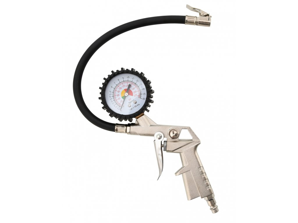 Compass Vzduchová pistole na pneu s manometrem