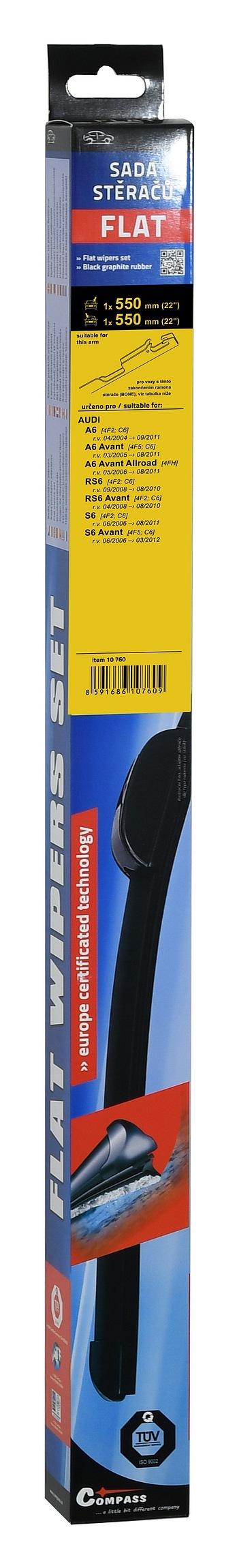 Compass Stěrače FLAT SET (BONE) 550+550mm