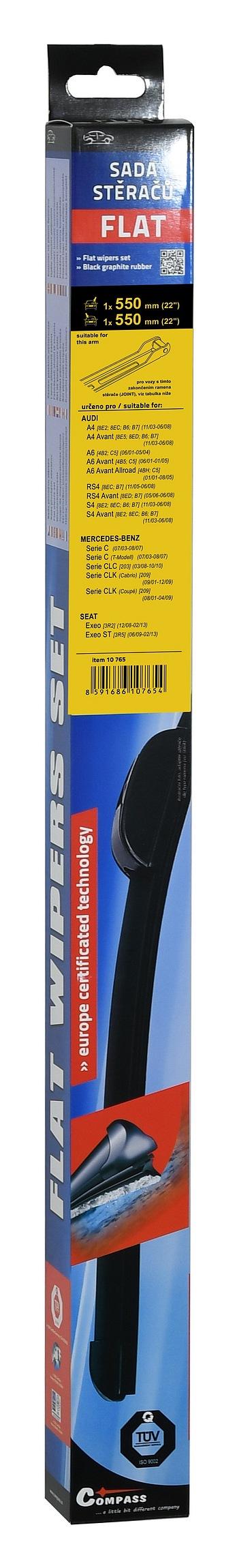 Compass Stěrače FLAT SET (JOINT) 550+550mm