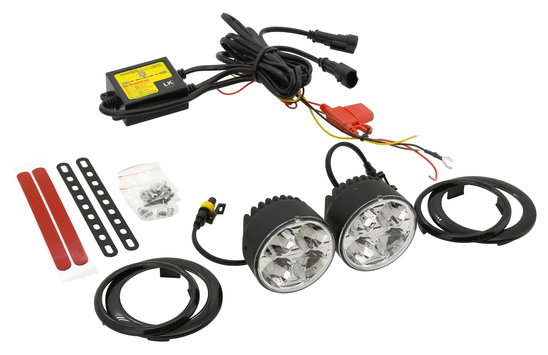 Compass Světla denního svícení 4 HIGH POWER LED 12V/24V (kulatá 70 mm)