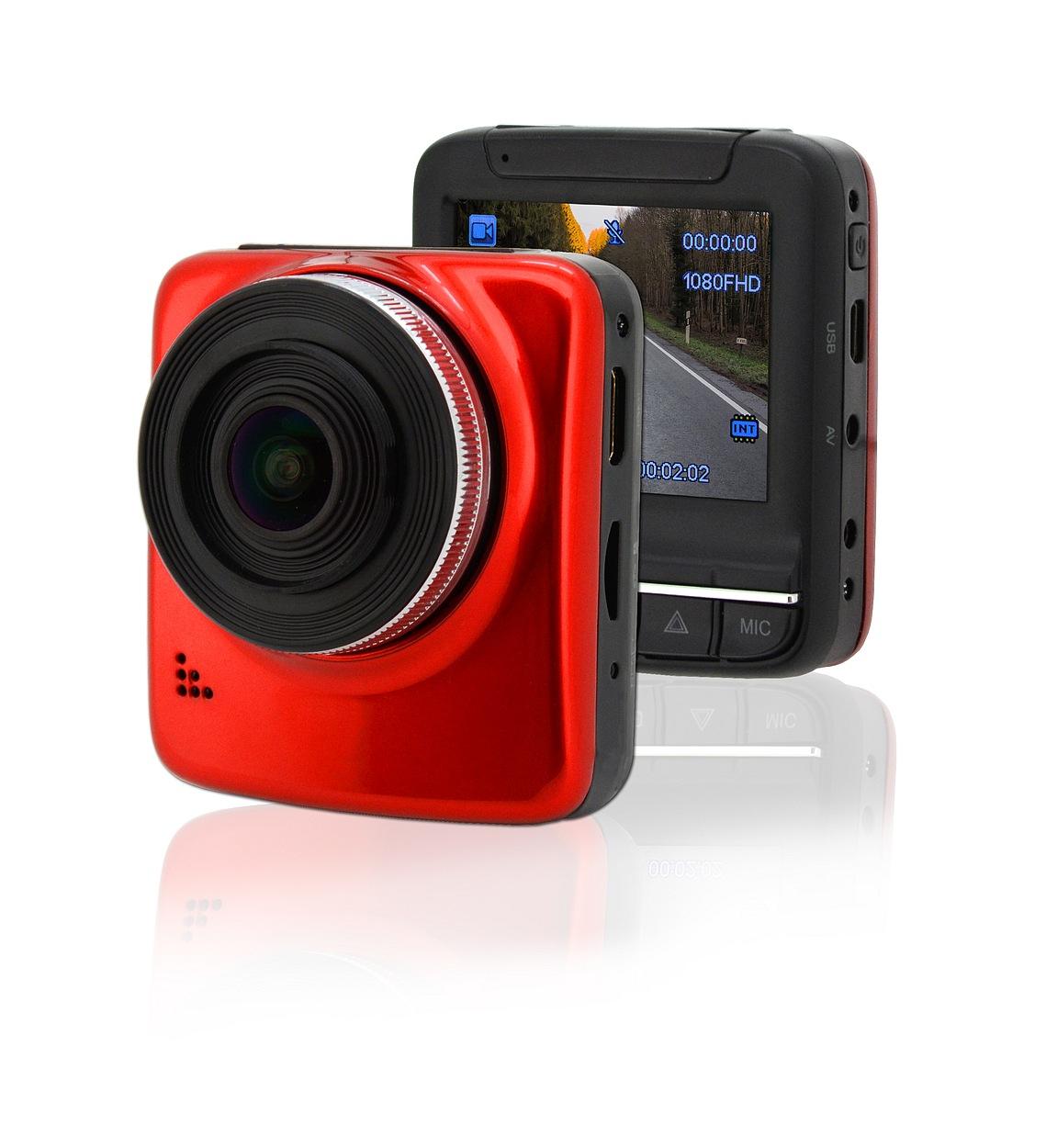 """Compass Kamera do auta Full HD 2,4"""" červená GPS"""