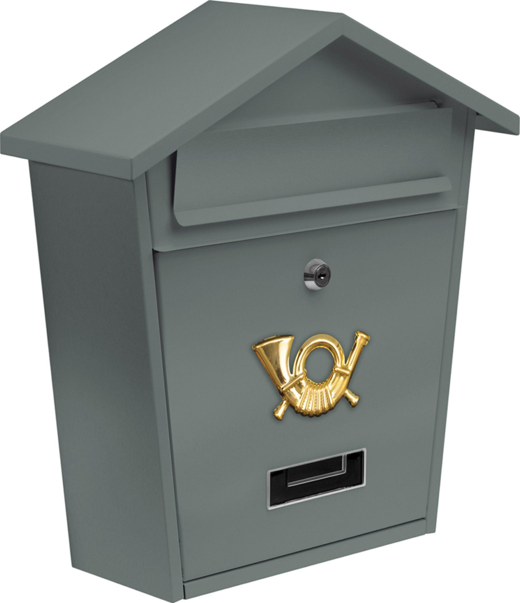 Vorel Poštovní schránka se stříškou 380x320x105mm šedá
