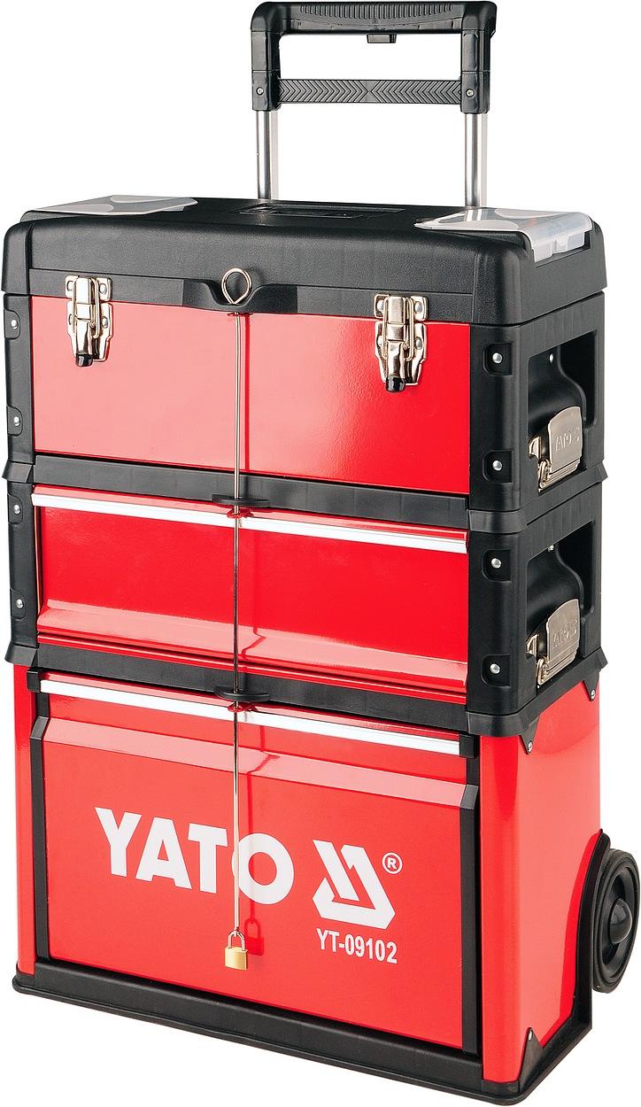 YATO Vozík na nářadí 3 sekce, 1 zásuvka