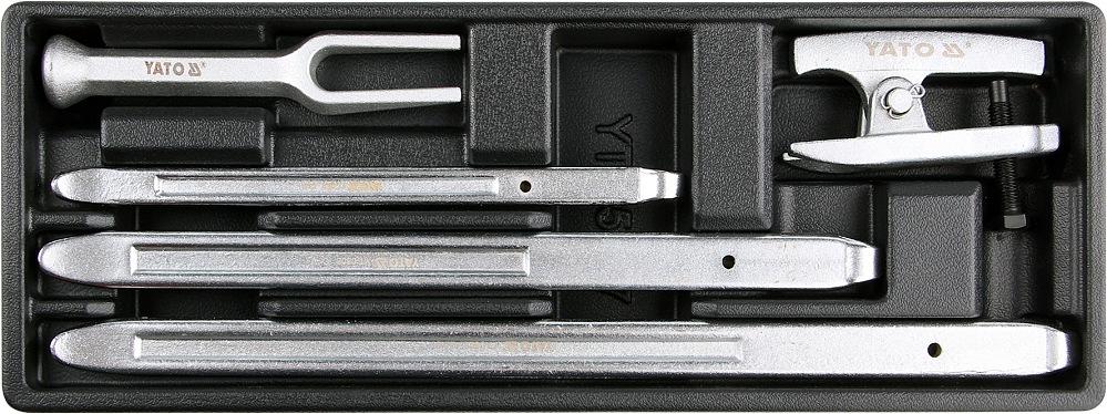 YATO Vložka do zásuvky - 3x montážní páka na pneu, 2x stahovák kulových čepů