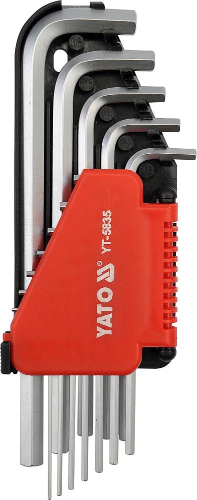 YATO Sada klíčů imbus 12 ks delší palcové