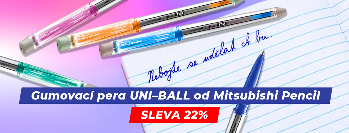 Gumovací pera Uni-Ball