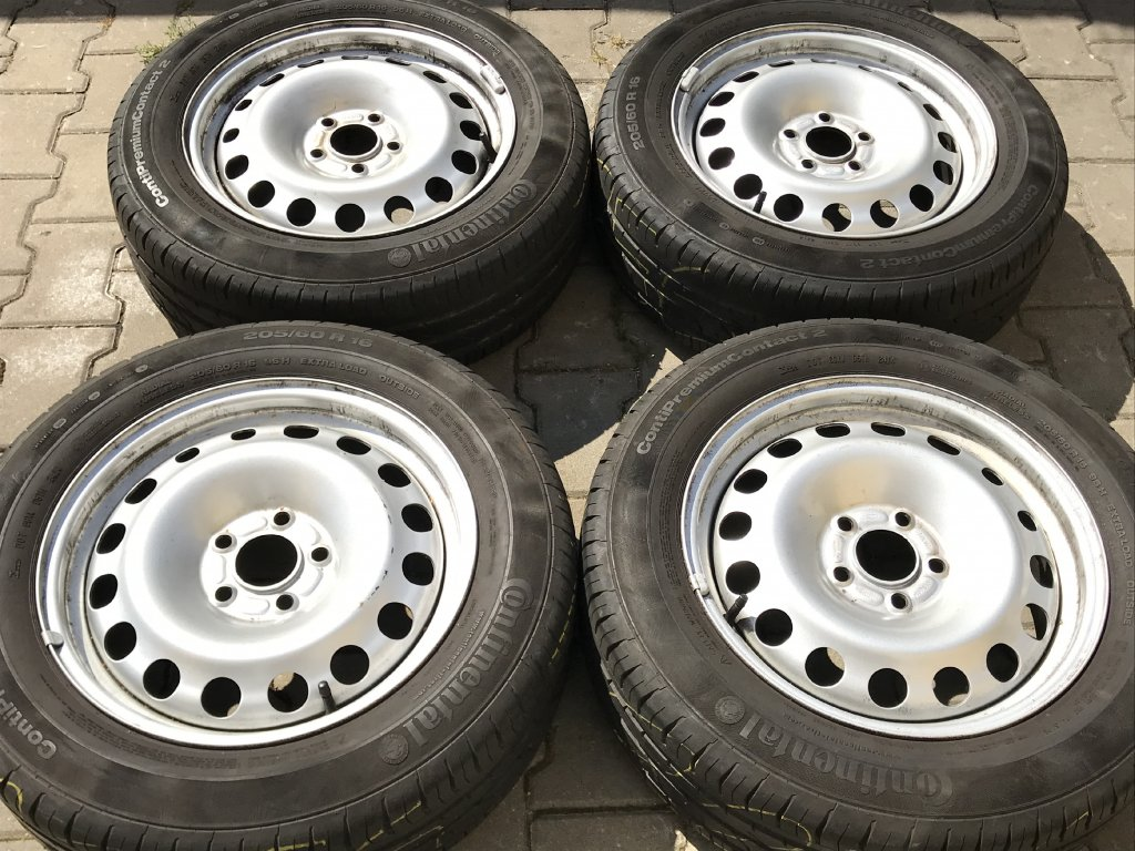Letní sada 5x108 FORD TOURNEO CONNECT 205/60 R16 Continental