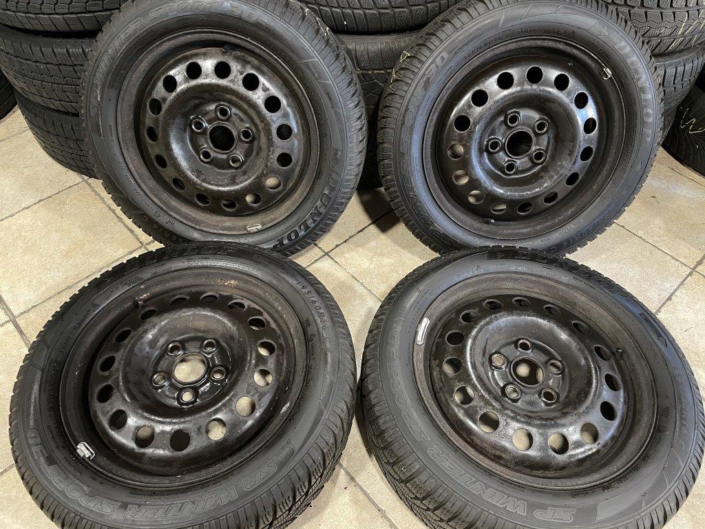 Zimní sada 5x112 Dunlop 195/60 R16C SHARAN ,GALAXY,ALHAMBRA
