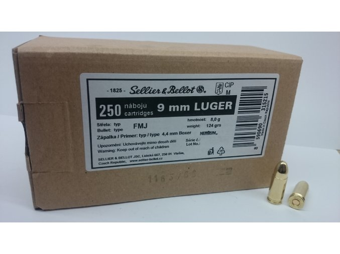 9mm luger box
