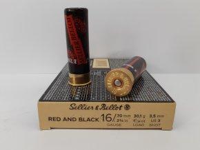 S&B Brok.náboj 16/70/3,5 Red and Black, papír (10ks.)