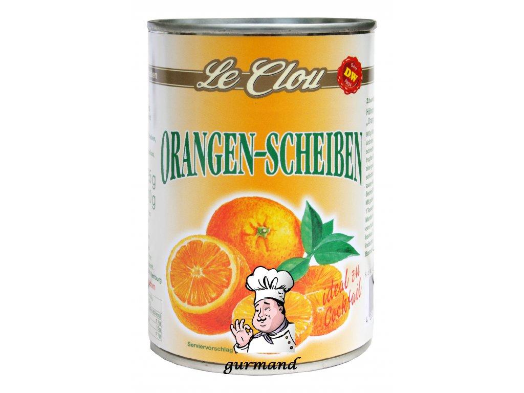 Le Clou Pomerančové plátky ve sladkém nálevu 425/240g.