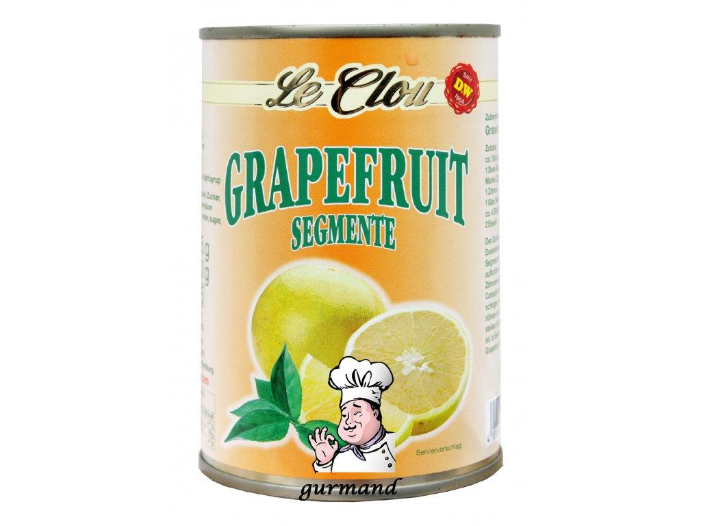 Le Clou Grapefruitové segmenty loupané ve sladkém nálevu 435/230g