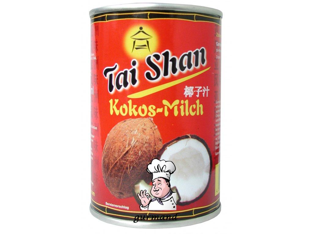 Tai Shan  Kokosové mléko 17-19% t.v.s. neslazené 400ml